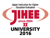 Japan Institution for Higher Education Evaluation JIHEE UNIVERSITY 2016