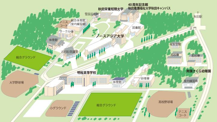 キャンパスマップ(下北手校地)